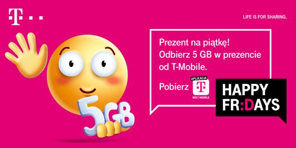 Happy Fridays: paczka 5 GB dla klientów T-Mobile