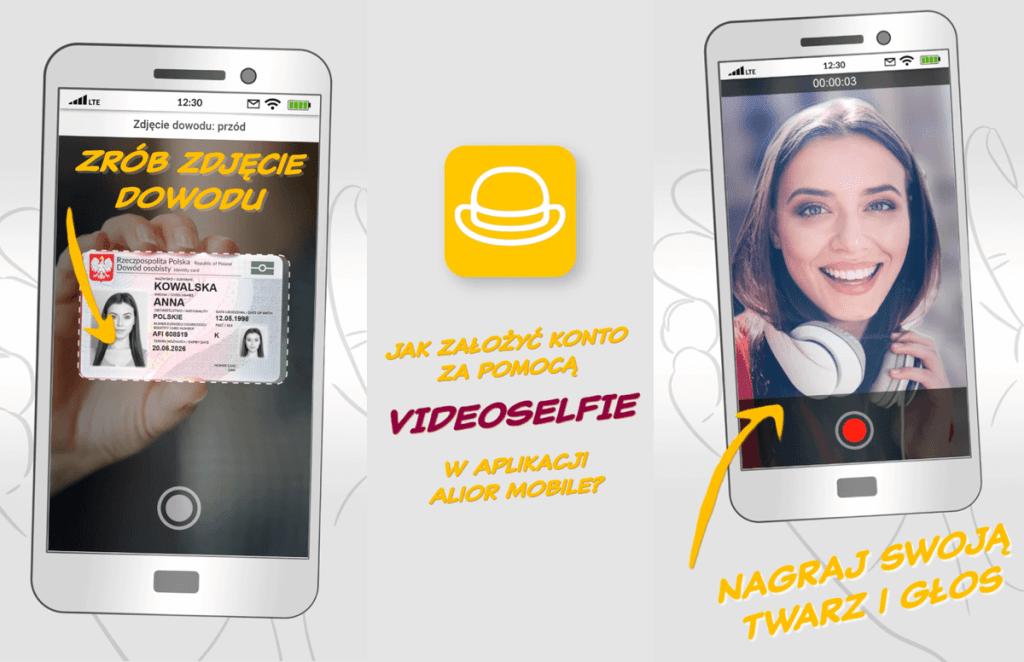 Zakładanie konta przez VideoSelfie w Alior Banku