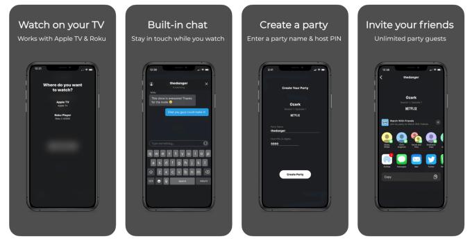 Aplikacja mobilna Watch With Friends  – do wspólnego, zdalnego oglądania Netfliksa ze znajomymi
