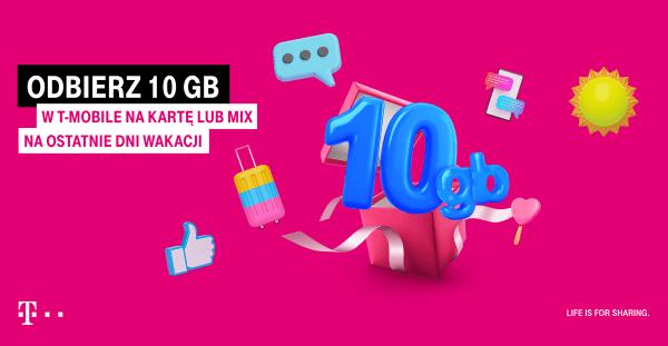 10 GB od T-Mobile na koniec wakacji!