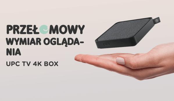 Najmniejszy na rynku dekoder 4K TV BOX od UPC