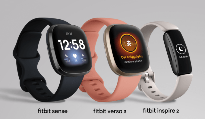 Fitbit Sense, Fitbit Versa 3 i Fitbit Inspire 2