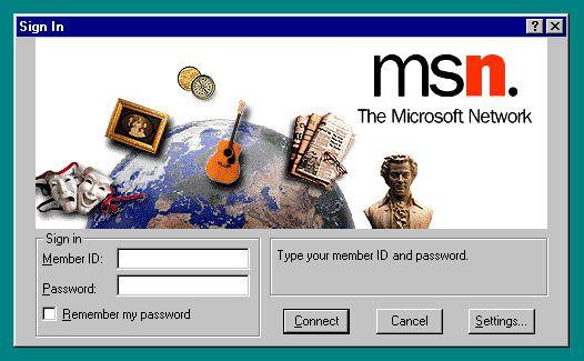 MSN pod Windowsem 95