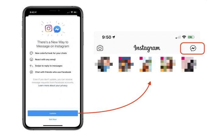 Integracja Messengera w module do wysyłania wiadomości aplikacji Instagram