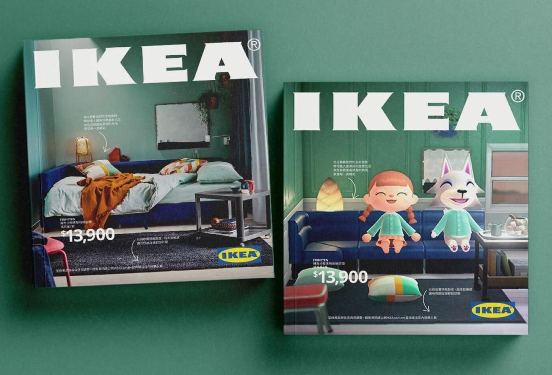 Tajwański katalog IKEA na 2021 rok w wersji klasycznej i w stylu Animal Crossing