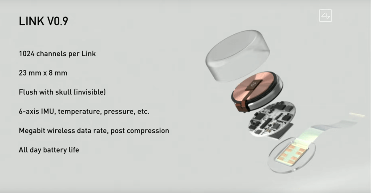 Budowa implantu mózg-maszyna Link V0.9