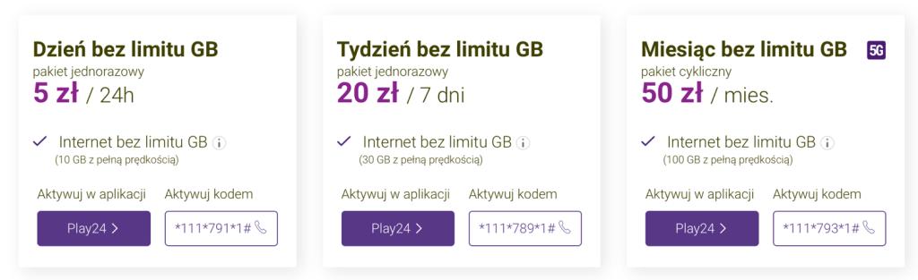 play internet bez limitu za 5 zł