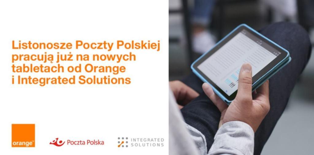 Poczta Polska we współpracy z Orange wyposażyła listonoszy w ponad 20 tys. nowych tabletów