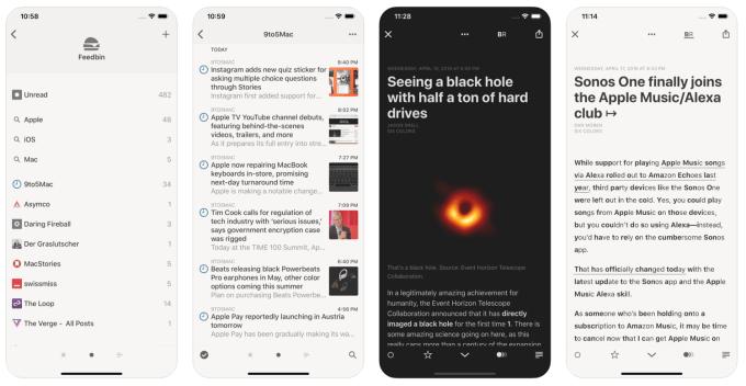 Reader 4 – aplikacja mobilna (screen)