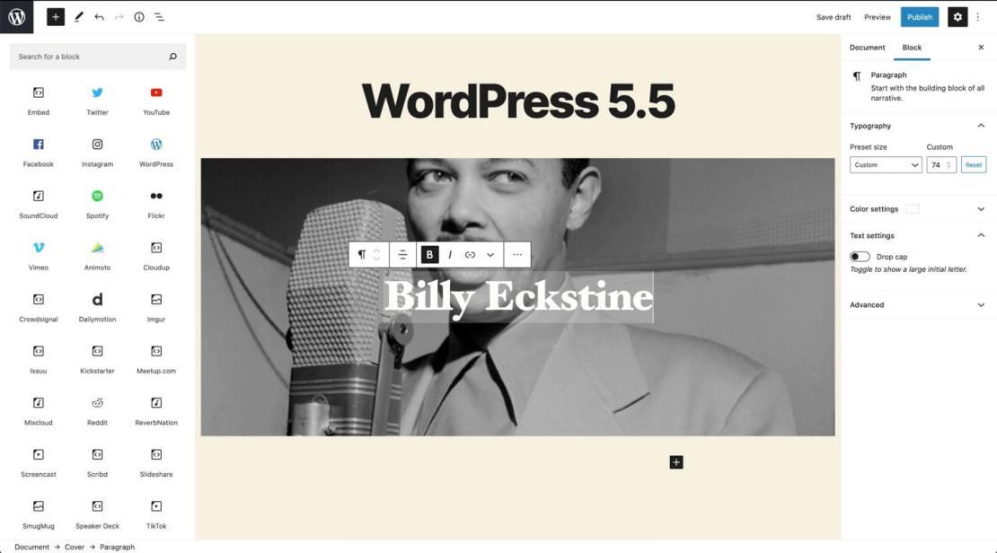 WordPress 5.5. - nowy katalog bloków
