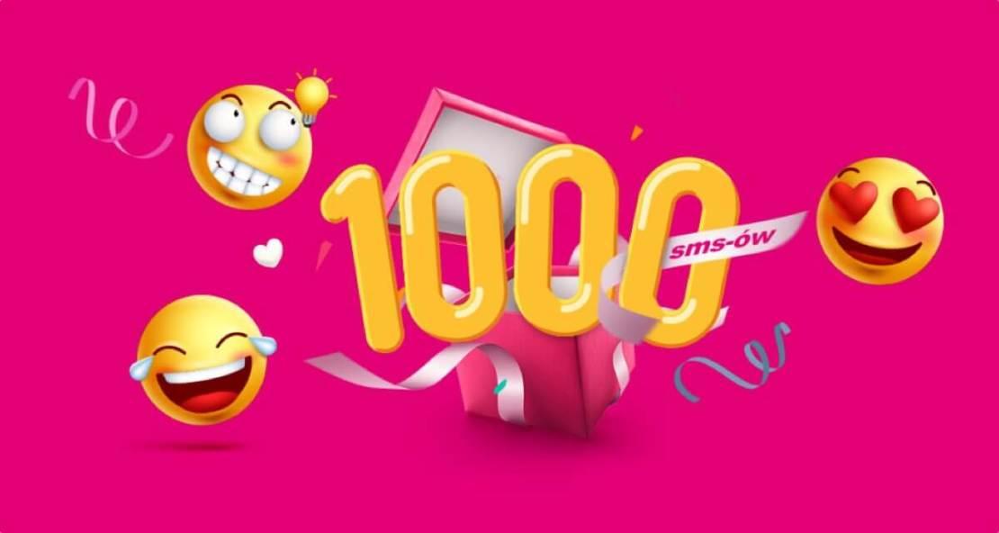 1000 SMS-ów od T-Mobile z okazji Dnia Emotikona 2020