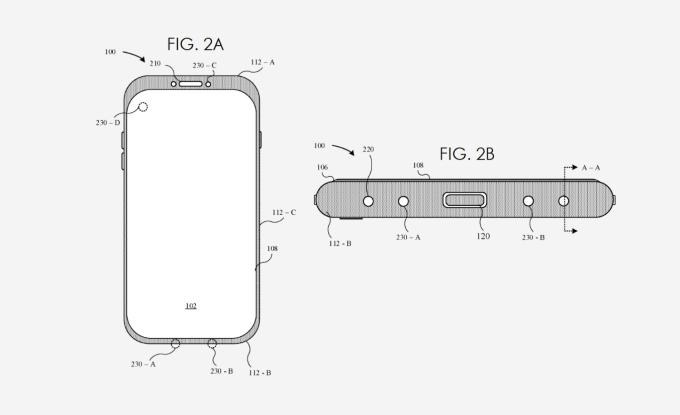 Patent systemu usuwania wody ze szczelin iPhone'a (Apple 2019-2020)