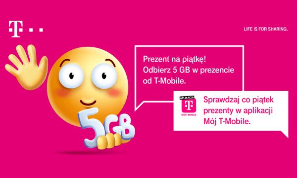 """Aż 5 GB do oberania w aplikacji """"Mój T-Mobile"""""""