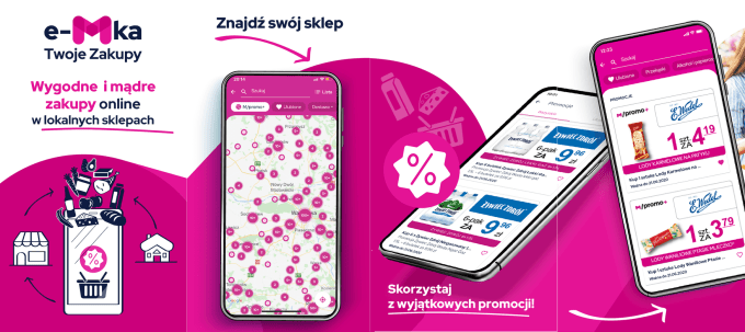 """Aplikacja mobilna """"e-Mka – Twoje zakupy"""" - screeny"""