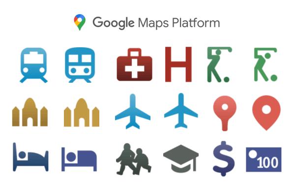 We wrześniu zmienią się ikony interfejsu Maps Platform Places API