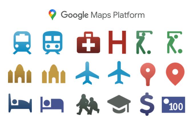 Nowe ikony w interfejsach API Google Places (od 29 września 2020 r.)