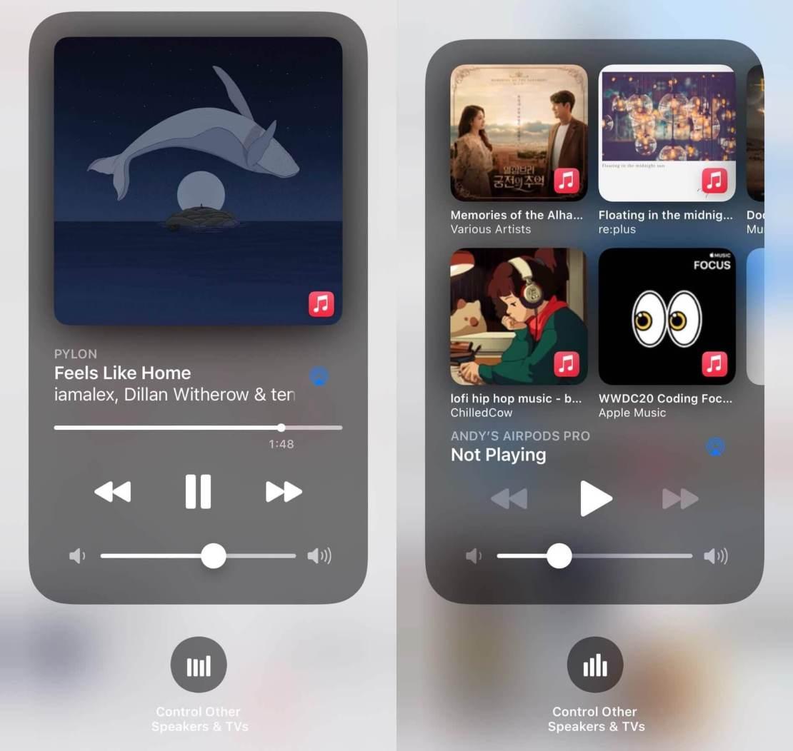 Sugestie muzyki w iOS 14.2 beta 1