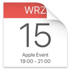 Kalendarz: 15 września 2020 r. godz. 19:00 Apple Special Event