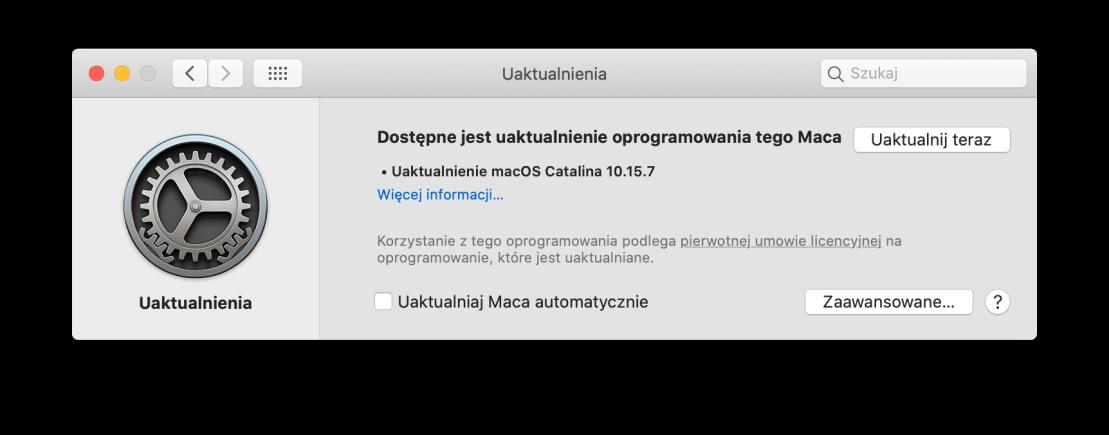 macOS Catalina 10.15.7 - update info