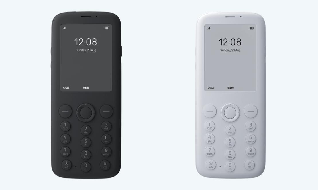 Telefon Mudita Pure w kolorze czarnym i białym