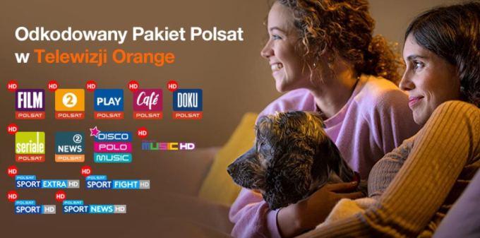 Odkodowany Pakiet kanałów Polsatu w Telewizji Orange