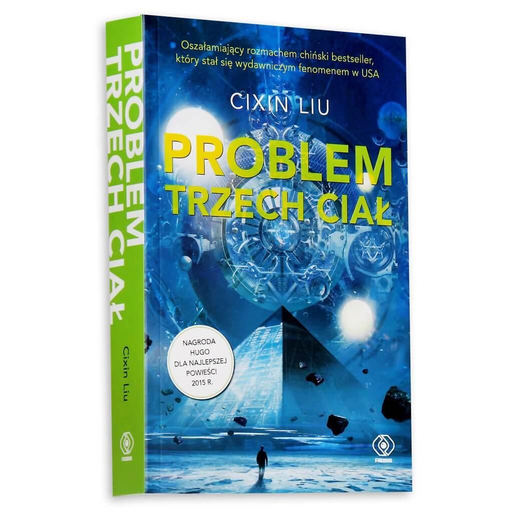 """Okładka książki """"Problem trzech ciał"""" Cixin Liu"""