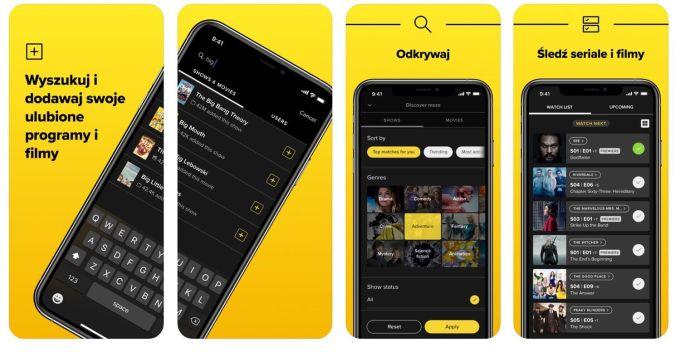TV Time mobile app (screen)