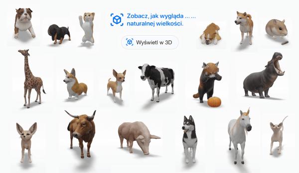 Nowa seria zwierząt w 3D od Google'a