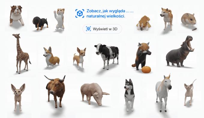 Nowe zwierzęta w 3D (AR) w wyszukiwarce Google (update we wrześniu 2020 r.)