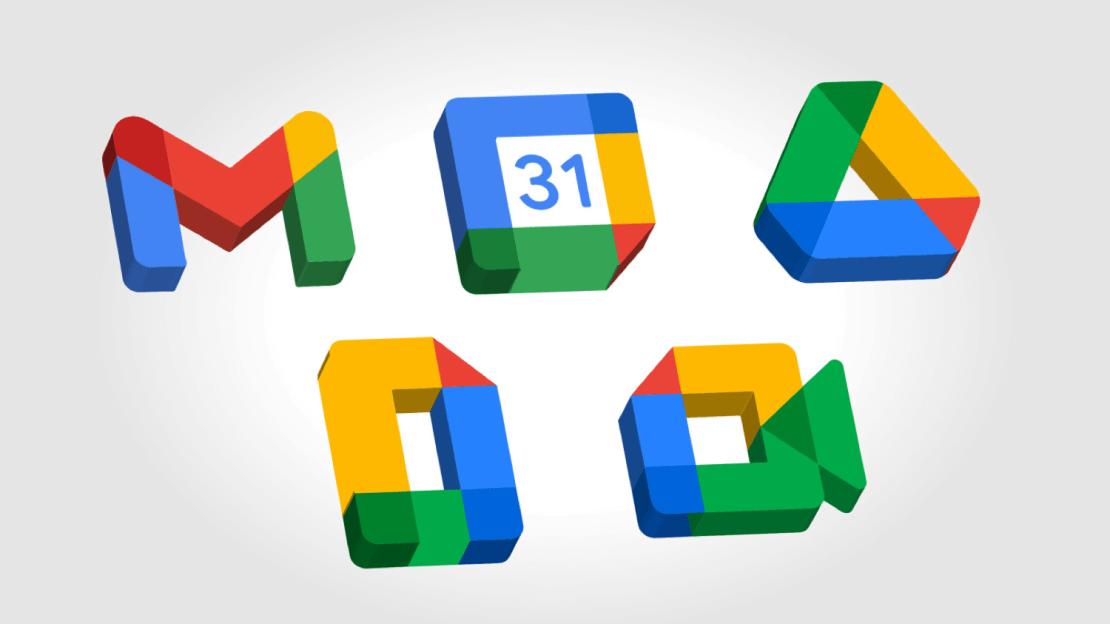 Ikony pakietu Google Workspace