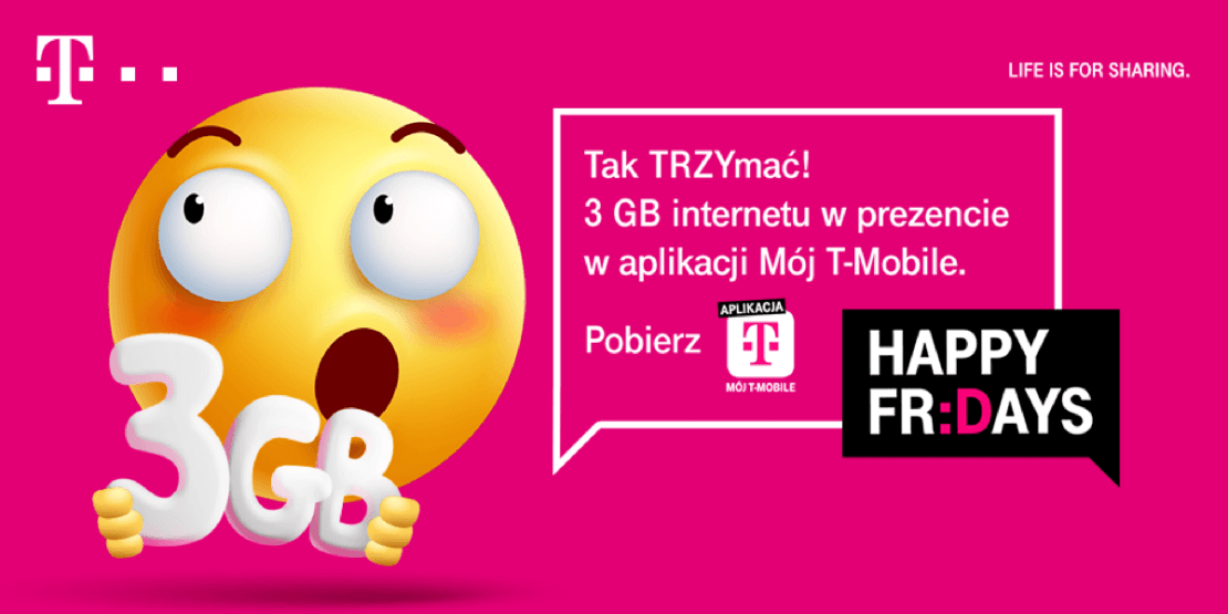 """3 GB internetu w prezencie w aplikacji """"Mój T-Mobile"""""""