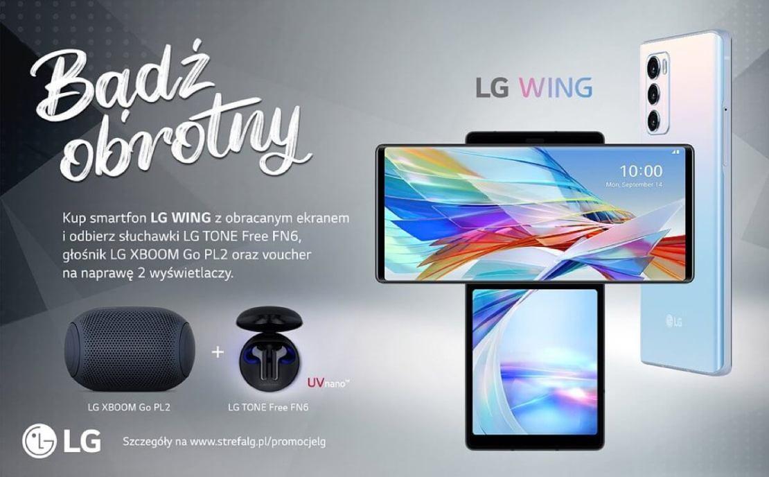 LG WING dostępny w Polsce w promocji ze słuchawkami bezprzewodowymi