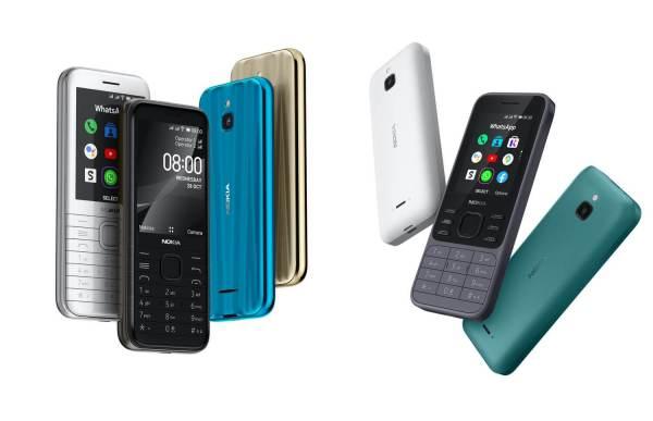 Nokia 6300 4G i Nokia 8000 4G