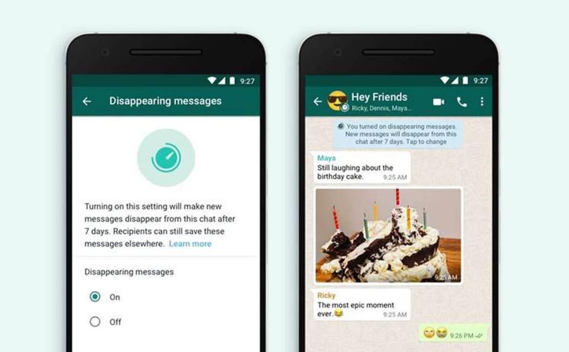 Znikające wiadomości w aplikacji WhatsApp