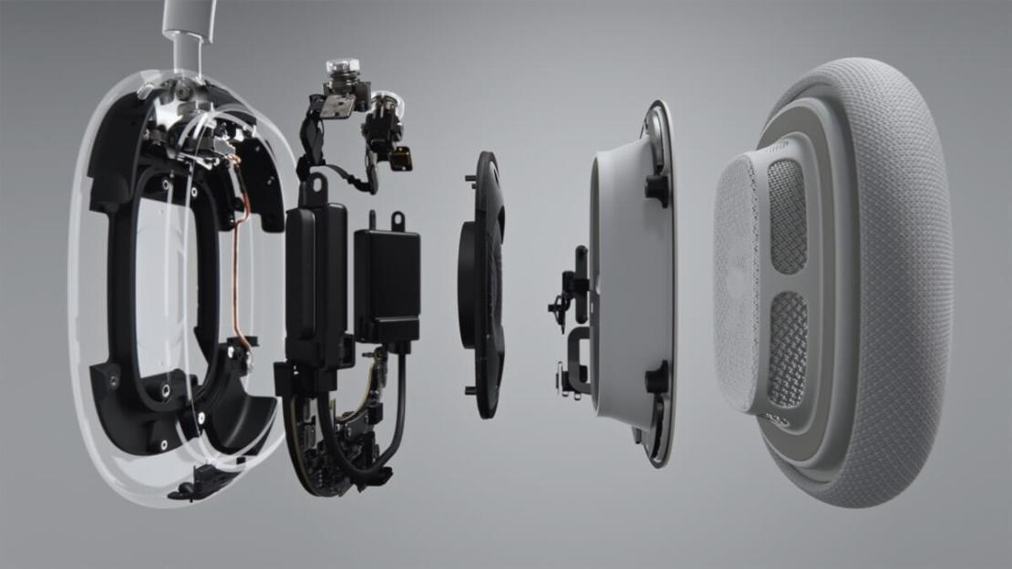 Budowa słuchawki AirPods Max