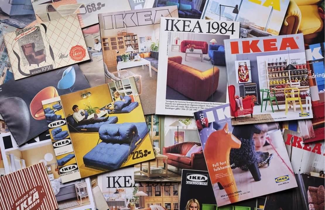 Różne katalogi IKEA z poprzednich lat