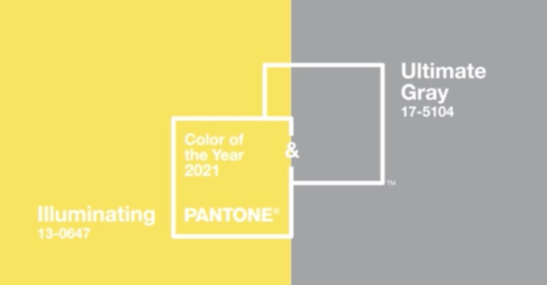 PANTONE 17-5104 Ultimate Gray + PANTONE 13-0647 Illuminating