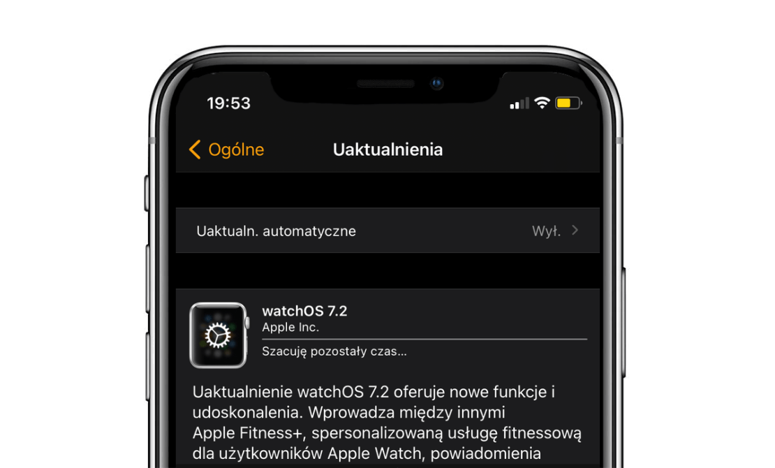 watchOS 7.2 OTA update