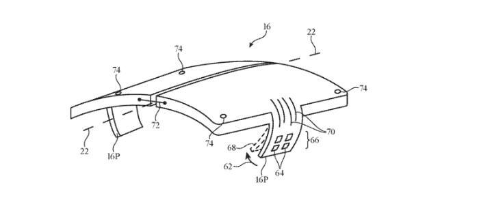 Rysunek patentowy zawiasów od Apple'a