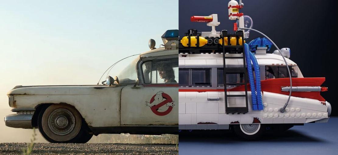 ECTO-1 z Pogromcy duchów (Ghostbusters) z klocków LEGO