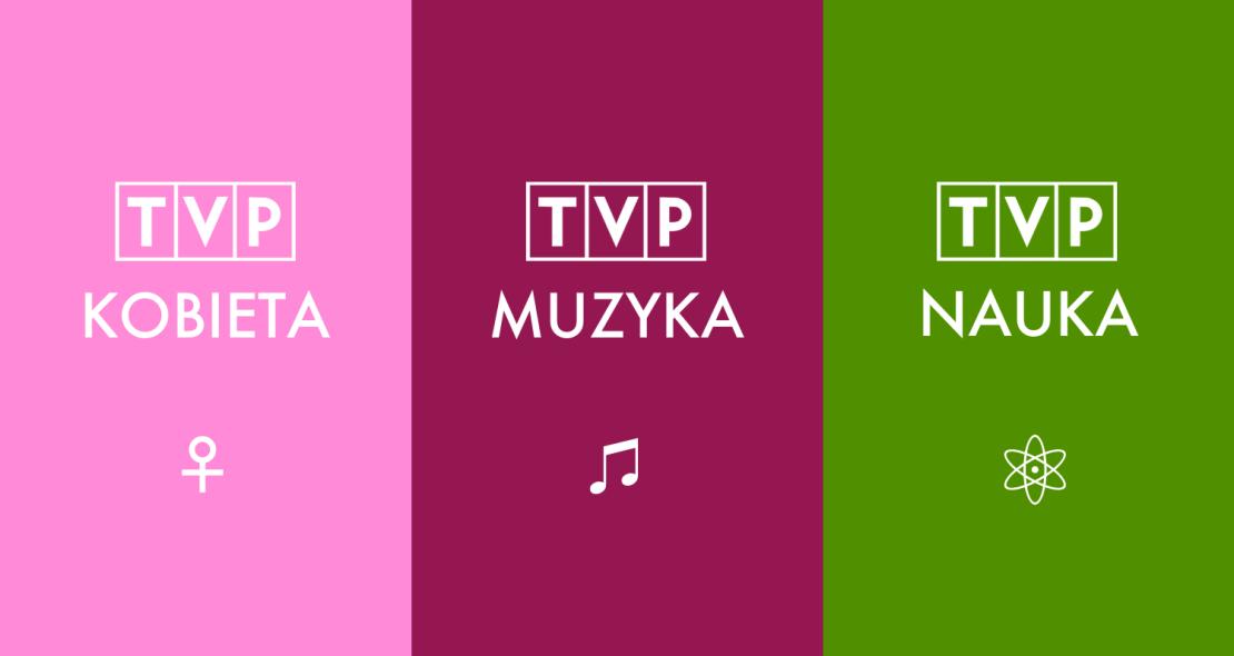 Nowe kanały TVP (TVP Kobieta, TVP Muzyka, TVP Nauka) - to nie są logotypy stacji