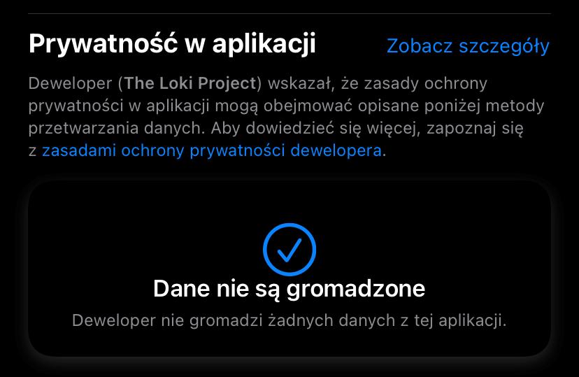 Prywatność w aplikacji Session (iOS)