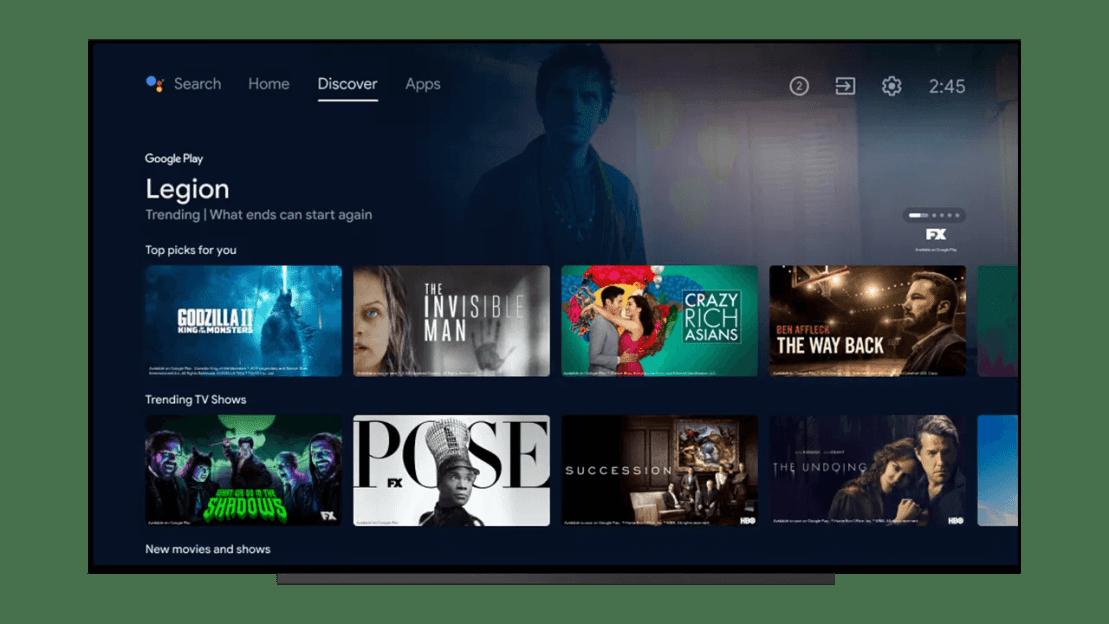 Discover – nowa zakładka w aktualizacji Android TV 2021