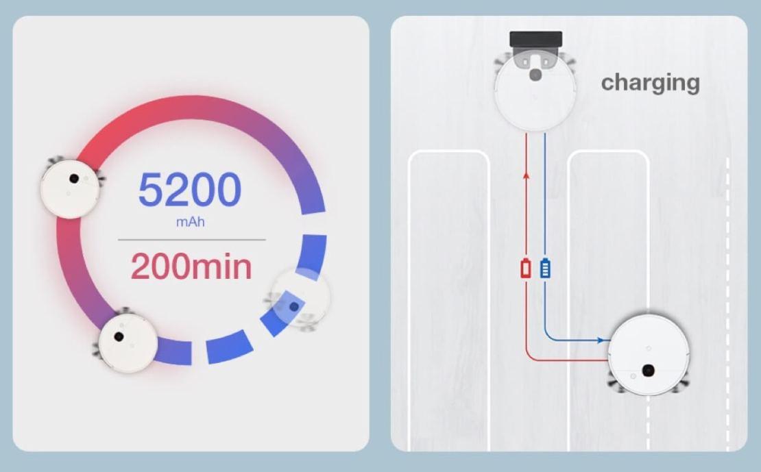 Ładowanie i bateria robota yeedi 2 hybrid