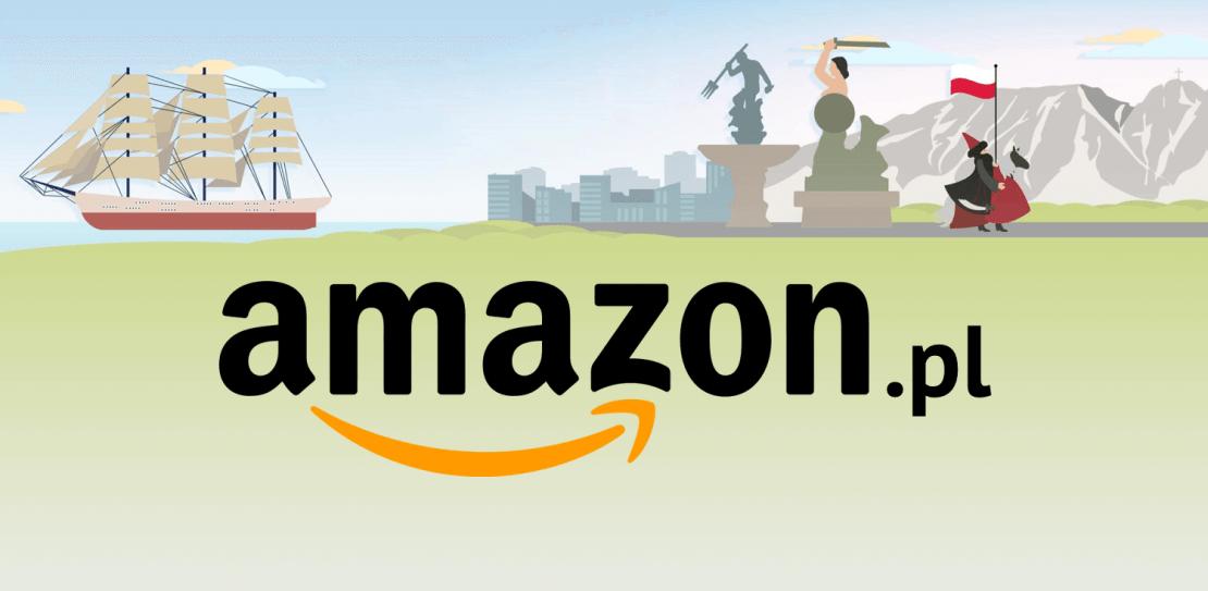 Amazon.pl - logo na tle z polskimi motywami