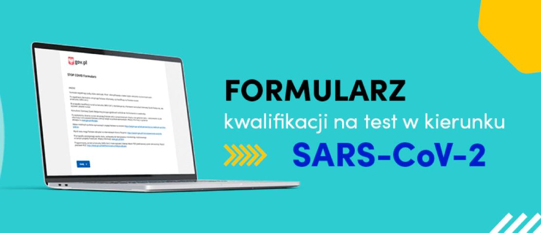 Formularz zgłoszeniowy online na test w kierunku koronawirusa SARS-Cov-2