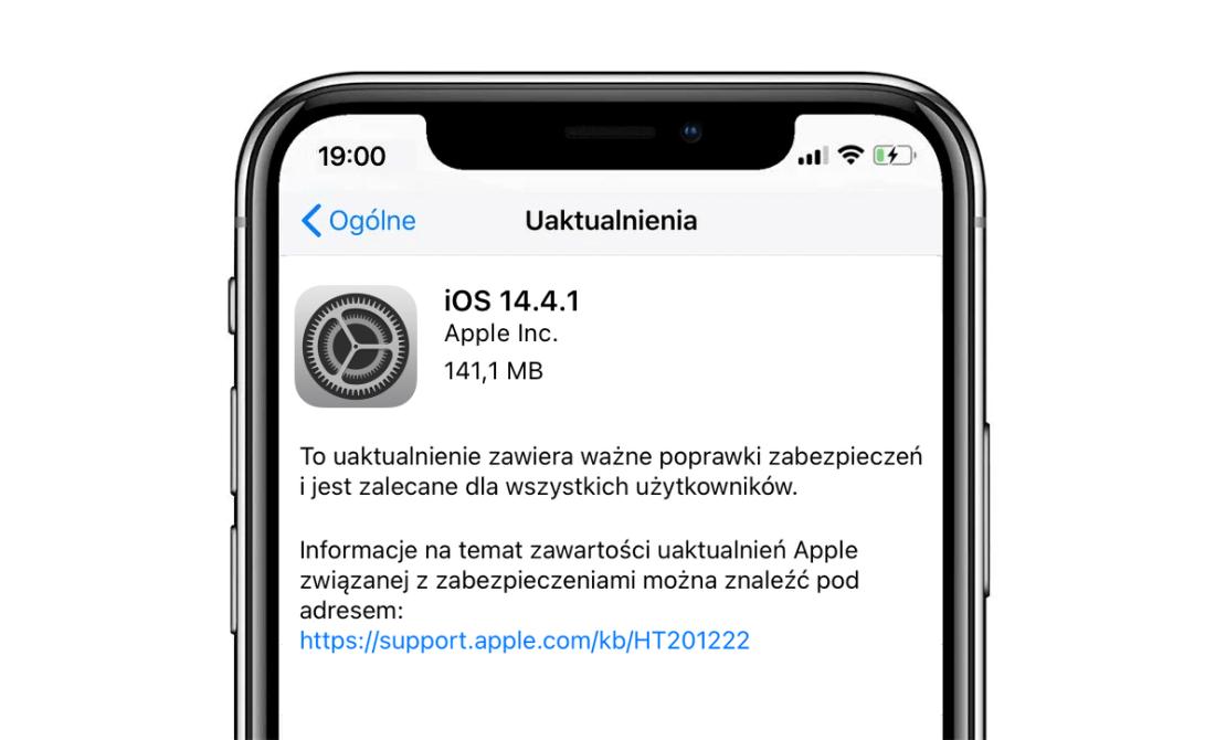 Uaktualnienie iOS 14.4.1