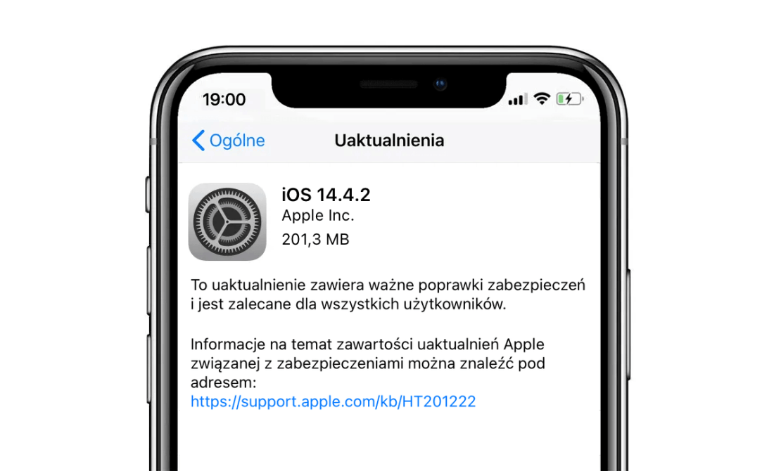 Uaktualnienie iOS/iPadOS 14.4.2