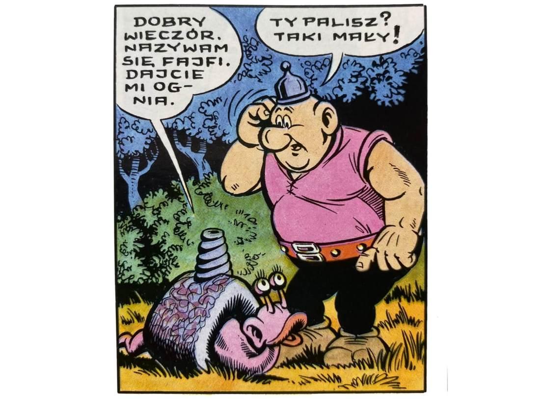 """Fragment komiksu """"Kajko i Kokosz – W krainie Borostworów"""" (Fajfi)"""