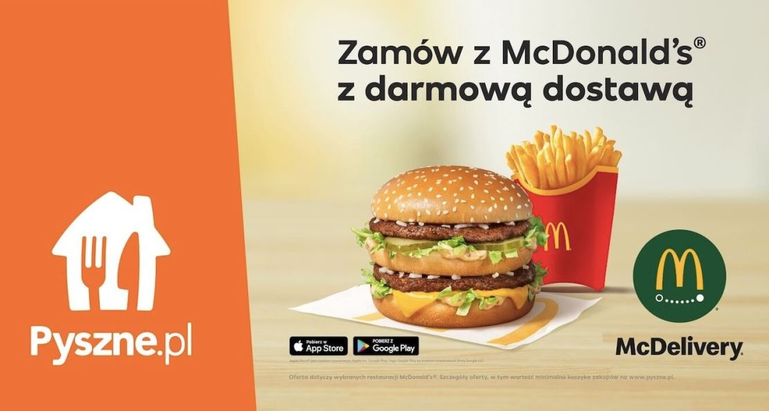 Zamówienia z McDonald's z darmowa dostawa w Pyszne.pl